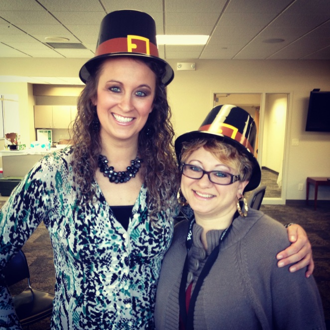 Celebrating Thanksgiving at work with an amazing friend!