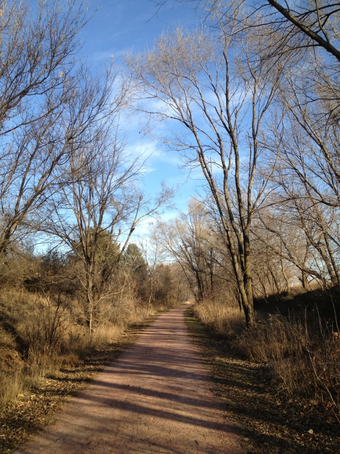 A beautiful day in Iowa for a walk with a dear friend.